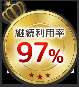 継続利用率97% 皆様に選ばれています